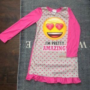 Girl's Emoji Night Gown